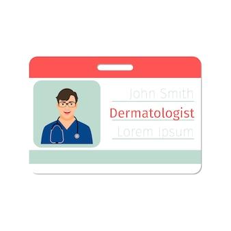 Emblema especialista médico dermatologista