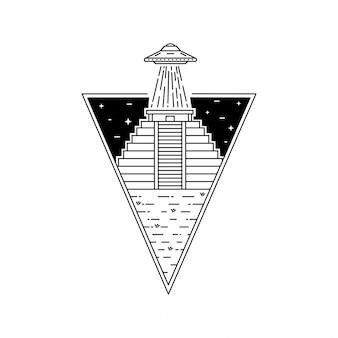 Emblema exterior de monoline do vintage