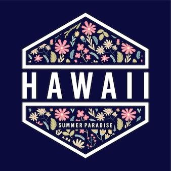 Emblema floral do paraíso do verão de havaí