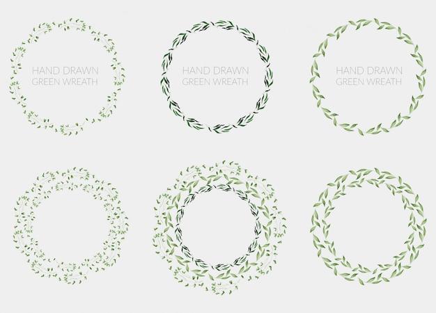 Emblema floral verde mínimo