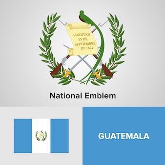 Emblema nacional da guatemala e bandeira