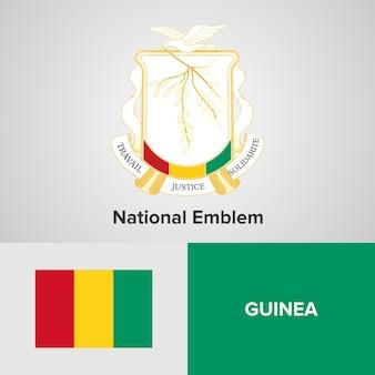 Emblema nacional da guiné e bandeira