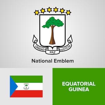 Emblema nacional da guiné equatorial e bandeira