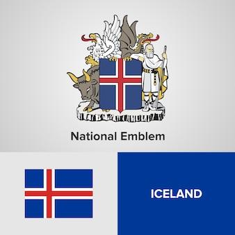 Emblema nacional da irlanda e bandeira