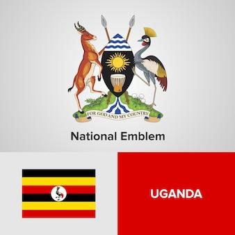 Emblema nacional de uganda e bandeira