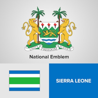 Emblema nacional e bandeira de serra leoa