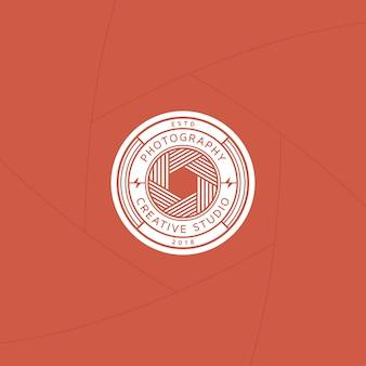 Emblema ou rótulo de estúdio de fotografia criativa