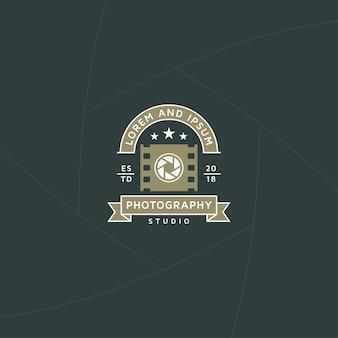 Emblema ou rótulo de produção de fotos e vídeos
