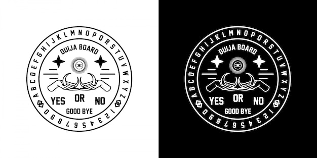 Emblema ouija monoline