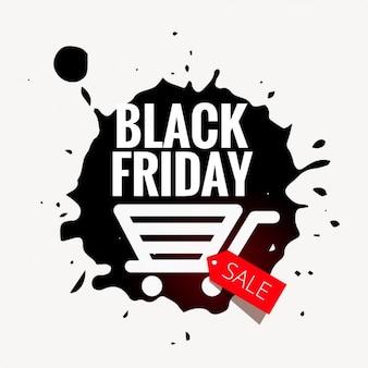 Emblema preto venda sexta-feira no estilo grunge