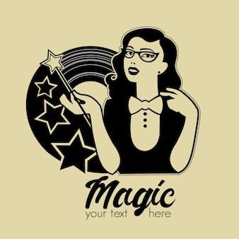 Emblema retro mágica