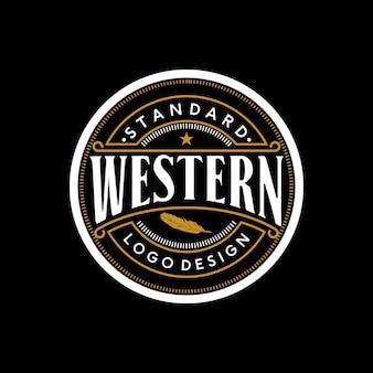 Emblema retro vintage elegante emblema inspiração no design do logotipo ocidental