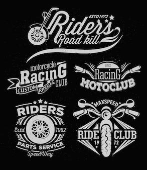 Emblema temático de motocicleta rock