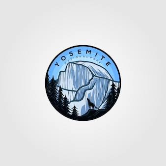 Emblema vintage com logotipo da yosemite