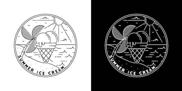 Emblema vintage de monoline