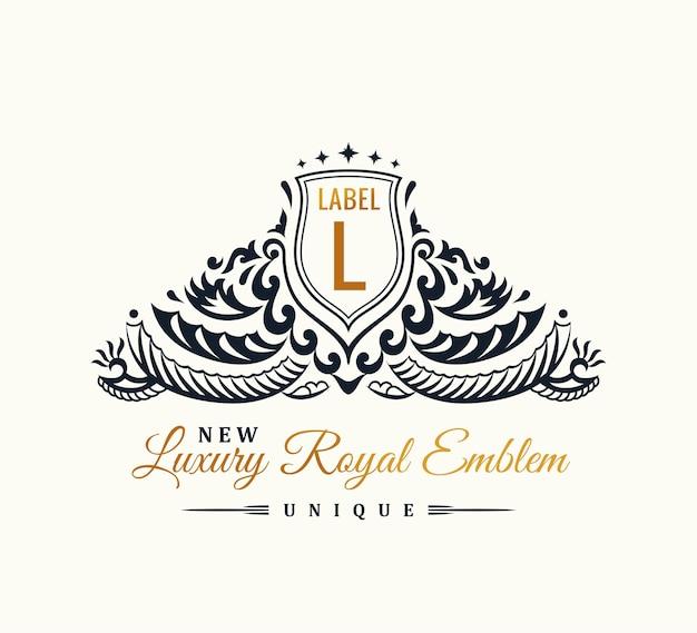 Emblema vintage feito de ornamento para logotipo ou brasão