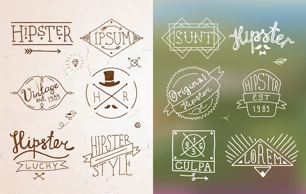 Emblema vintage hipster