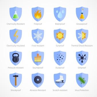Emblemas à prova de proteção com sinais à prova de fogo à prova de som à prova de som à prova d'água