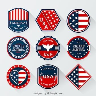 Emblemas americanos embalar