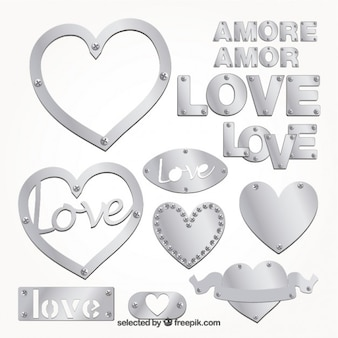 Emblemas amor prata