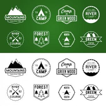 Emblemas aventura em cores diferentes