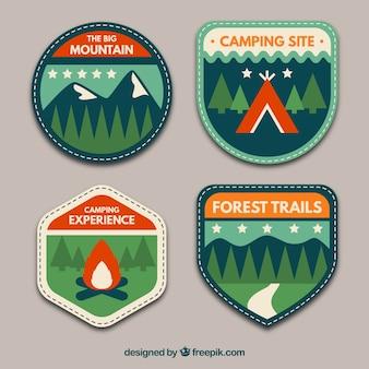 Emblemas aventura embalar