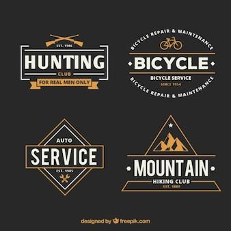 Emblemas aventura retro
