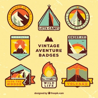 Emblemas aventure vintage