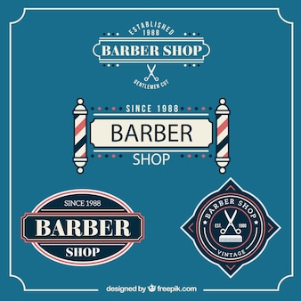 Emblemas barbearia no estilo do vintage