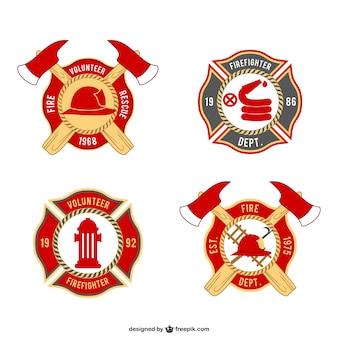 Emblemas bombeiros embalar