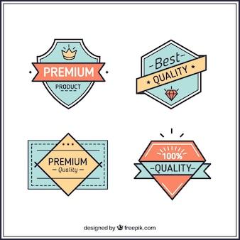 Emblemas bonitos no estilo hispter