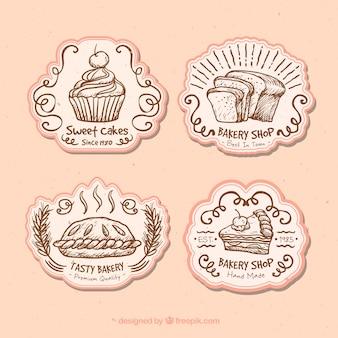 Emblemas bonitos para uma padaria