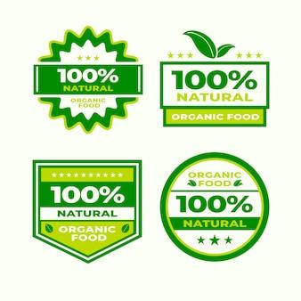 Emblemas cem por cento naturais