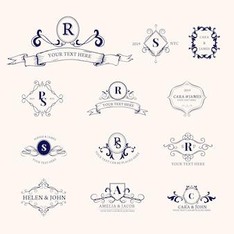 Emblemas, com, iniciais, jogo