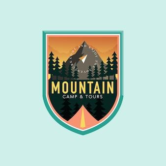 Emblemas com o logotipo da montanha