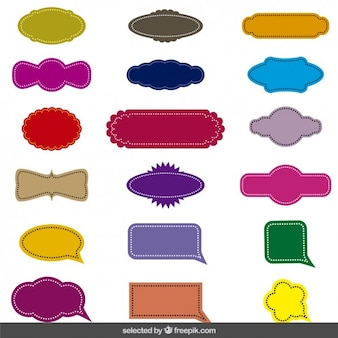 Emblemas costura vintage ajustados