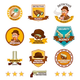 Emblemas da agência de detetives