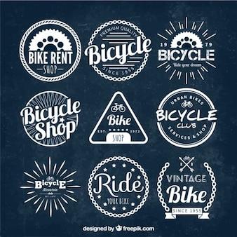 Emblemas da bicicleta do vintage