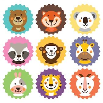 Emblemas de animais fofos