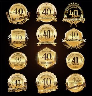 Emblemas de aniversário
