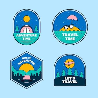 Emblemas de aventura lineares e planos