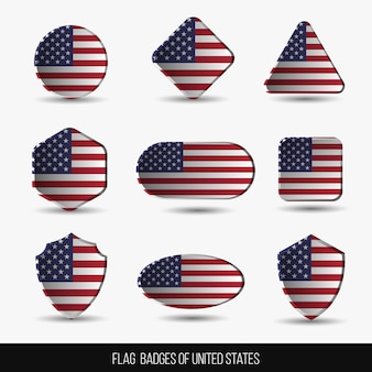 Emblemas de bandeira dos estados unidos