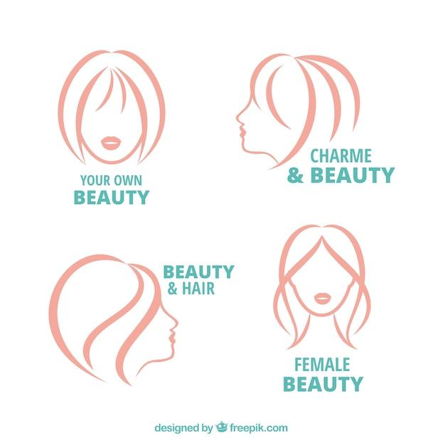 Emblemas de beleza esboçado