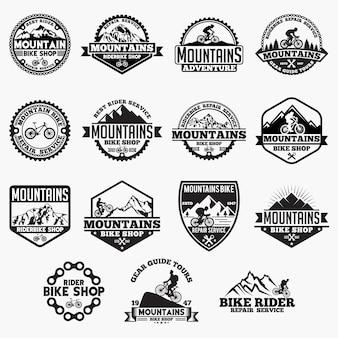 Emblemas de bicicleta de montanha