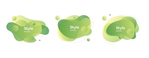Emblemas de bolha verde claro