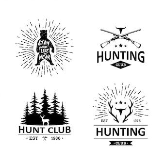 Emblemas de caça vintage
