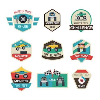 Emblemas de caminhão de monstro