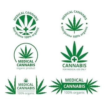 Emblemas de cannabis medicinal