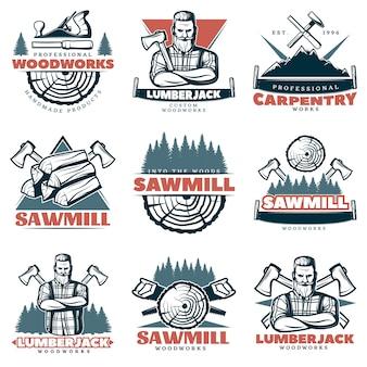 Emblemas de carpintaria personalizados de lenhador
