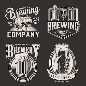 Emblemas de cerveja vintage